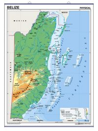 Laminated Map of Belize
