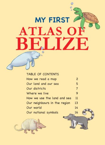 My First Atlas of Belize table of contents